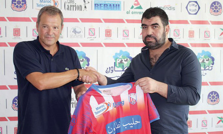 Angel Odriozola en compagnie du président du MAT, Redouan El Ghazi.