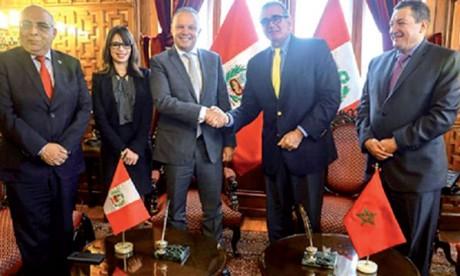 Le renforcement de la coopération bilatérale au centre d'entretiens maroco-péruviens à Lima
