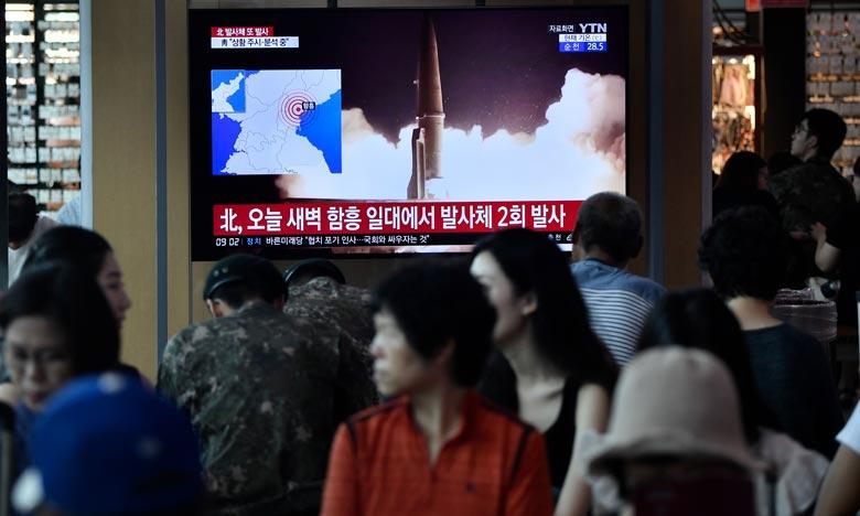 La Corée du Nord tire deux nouveaux «projectiles non identifiés»