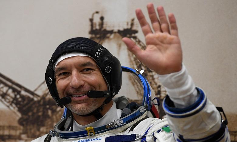 Luca Parmitano, 42 ans, a quitté la Terre le 20 juillet à bord d'une capsule Soyouz avant de rejoindre l'ISS pour une mission de six mois. Ph. AFP