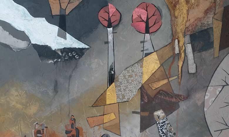 L'exposition «Un monde dans des miroirs fragmentés» présente une collection de 43 œuvres d'Amine Benyoussef.