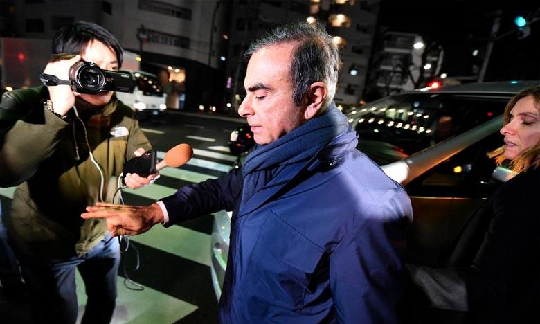 Carlos Ghosn, qui avait été arrêté en novembre 2018 et libéré sous caution au printemps dernier, est actuellement assigné à résidence à Tokyo, avec interdiction de voir son épouse et de la contacter. Ph : AFP