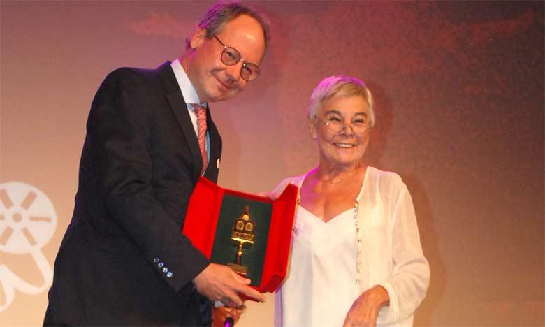 L'ambassadeur d'Autriche au Maroc, Klaus Kögeler, et la présidente du jury de la compétition officielle fiction, Marion Hänsel.  Ph. Saouri