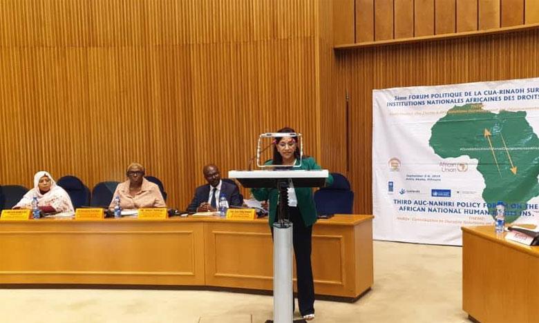 Amina Bouayach met en avant la politique nationale de migration  et la nouvelle stratégie d'asile adoptées par le Maroc