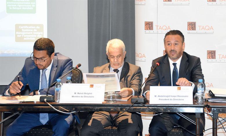 Taqa Morocco a réalisé de bonnes performances techniques au 1er semestre 2019, indique le top management de la société, lors de la présentation de ses résultats semestriels hier à Casablanca. Ph. Seddik