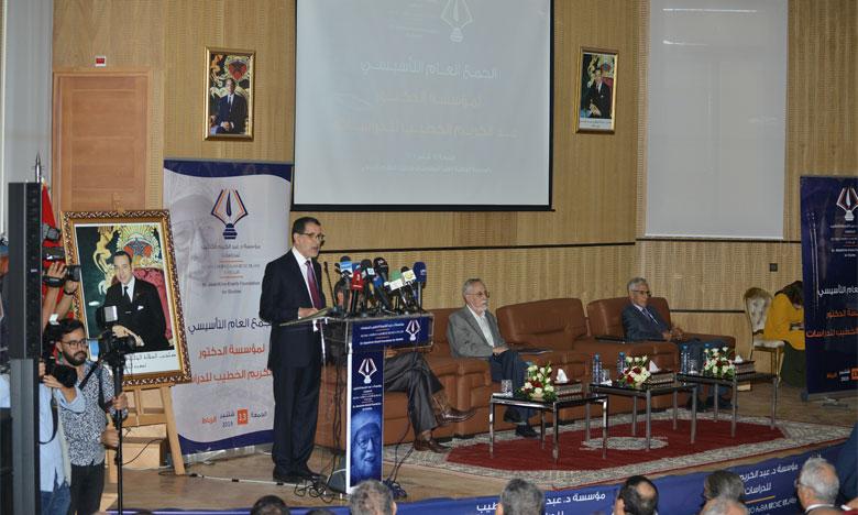 S.M. le Roi Mohammed VI : «Grâce à un remarquable parcours militant, Dr Al-Khatib était devenu l'un des plus illustres dirigeants politiques »