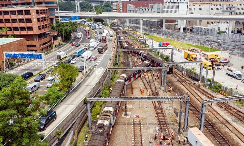 Huit blessés après le déraillement d'un métro à Hong Kong
