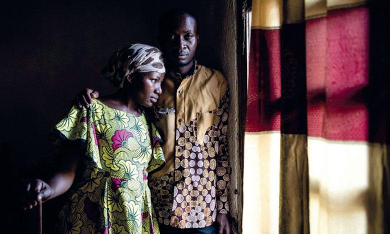 Maurice, médecin, et sa femme Espérance ont survécu à l'Ebola. Il a pris la tête d'une association de survivants à Beni, dans l'est de la RDC. Ph. AFP
