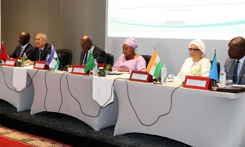Réunion à Rabat du bureau du comité technique spécialisé de l'Union africaine.