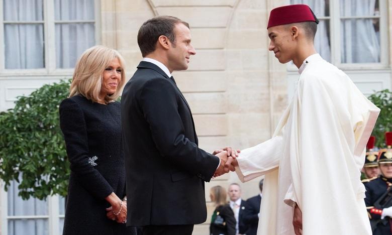 S.A.R. le Prince Héritier Moulay El Hassan prend part au déjeuner offert en l'honneur des chefs d'Etat et de Gouvernement présents aux obsèques de M. Chirac
