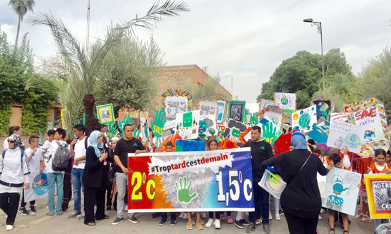 La jeunesse marocaine marche pour le climat