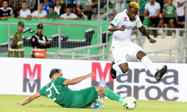 Les verts, qui se sont en match aller au Caire face au club libyen Al Nasr, ont ouvert le score dès la 8e minute du jeu par le biais de Mohcine Metouali. Ph : Seddik