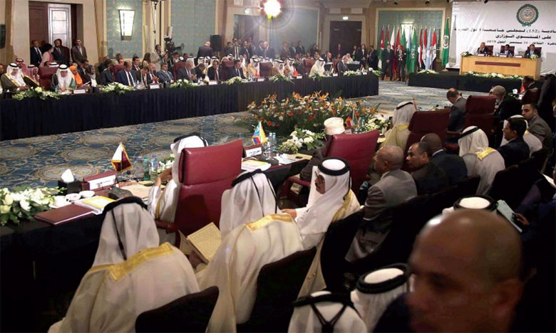 Le Conseil de la Ligue arabe au niveau ministériel se félicite des efforts entrepris par  S.M. le Roi pour la protection d'Al-Qods Acharif