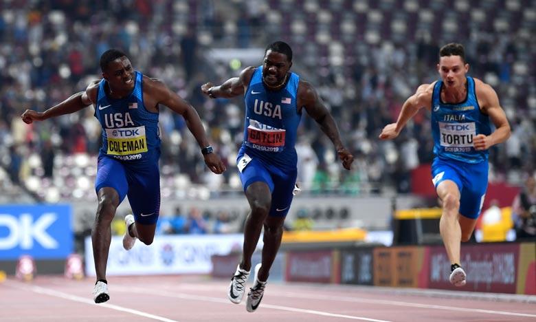 Après avoir échappé à une sanction antidopage pour trois manquements à ses obligations de localisation, l'Américain s'est imposé en 9 sec 76 en finale du 100 m, au stade Khalifa de Doha. Ph : AFP