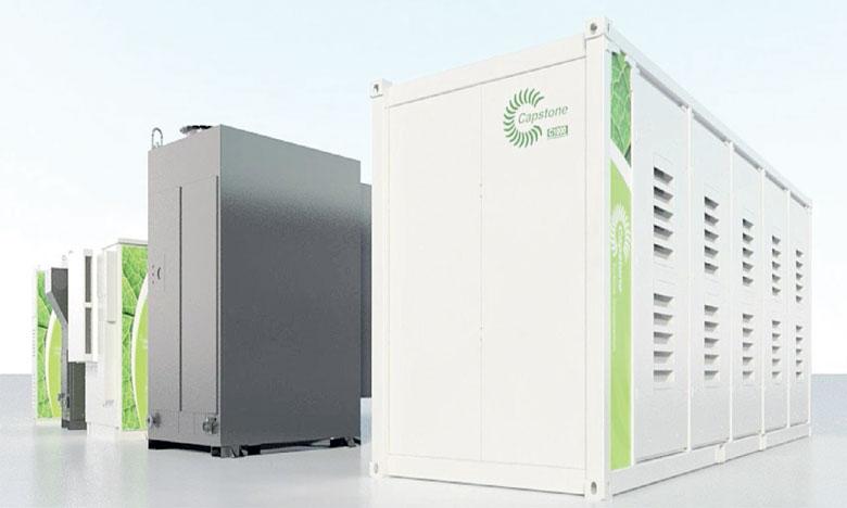 Les microturbines de Capstone peuvent produire 10 à 30 mégawatts  de puissance.