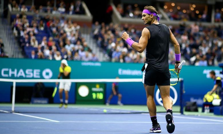 Rafael Nadal, N.2 mondial, a battu l'Italien Matteo Berrettini (25e) 7-6 (8/6), 6-4, 6-1, pour se qualifier à la finale de l'US Open. Ph : AFP