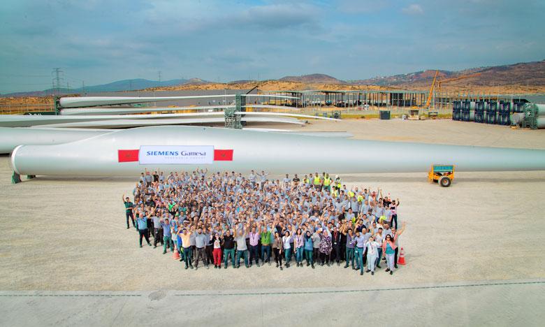 Siemens gamesa - Tanger : production record de 100 pales en 13 mois