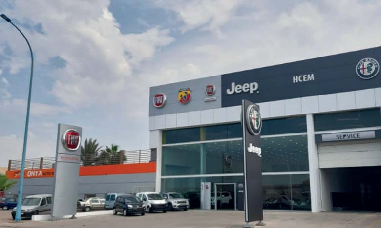 Nouveau showroom FCA  à Casablanca