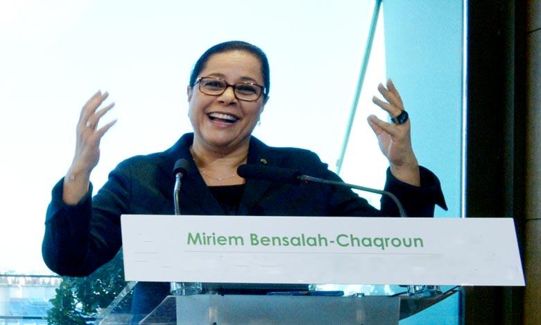 «Je crois fermement que l'investissement dans le DD est crucial pour garantir une croissance économique inclusive et préserver les ressources naturelles», a déclaré Miriem Bensalah-Chaqroun. Ph : DR