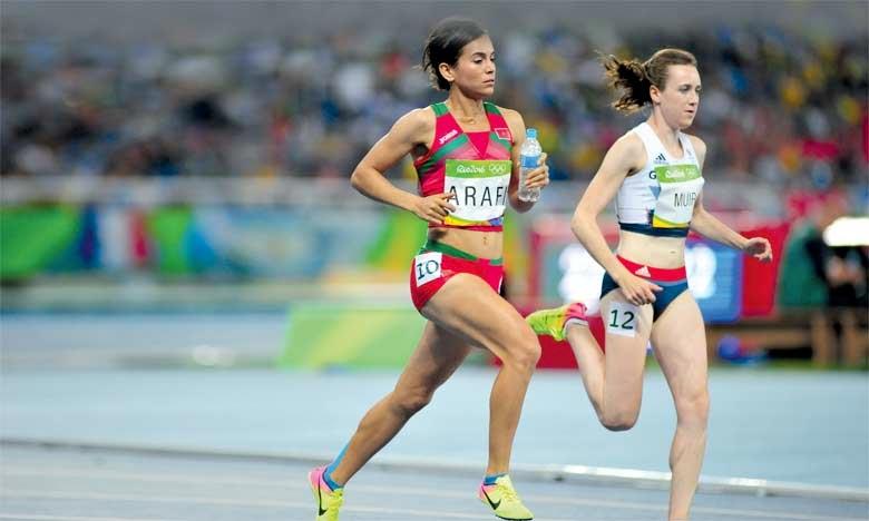 Rabab Arafi en finale de 1500m