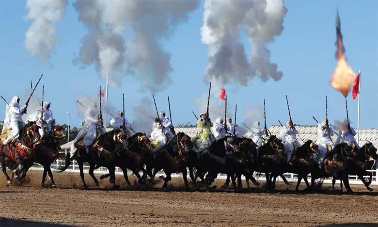 Coup d'envoi des épreuves du Grand Prix de S.M. le Roi Mohammed VI de Tbourida