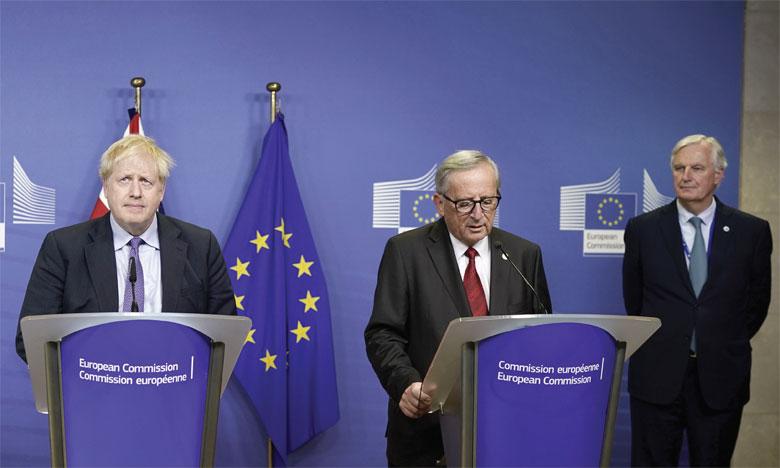 L'accord sur le Brexit a été annoncé jeudi par Jean-Claude Juncker et le Premier ministre britannique Boris Johnson.Ph. AFP
