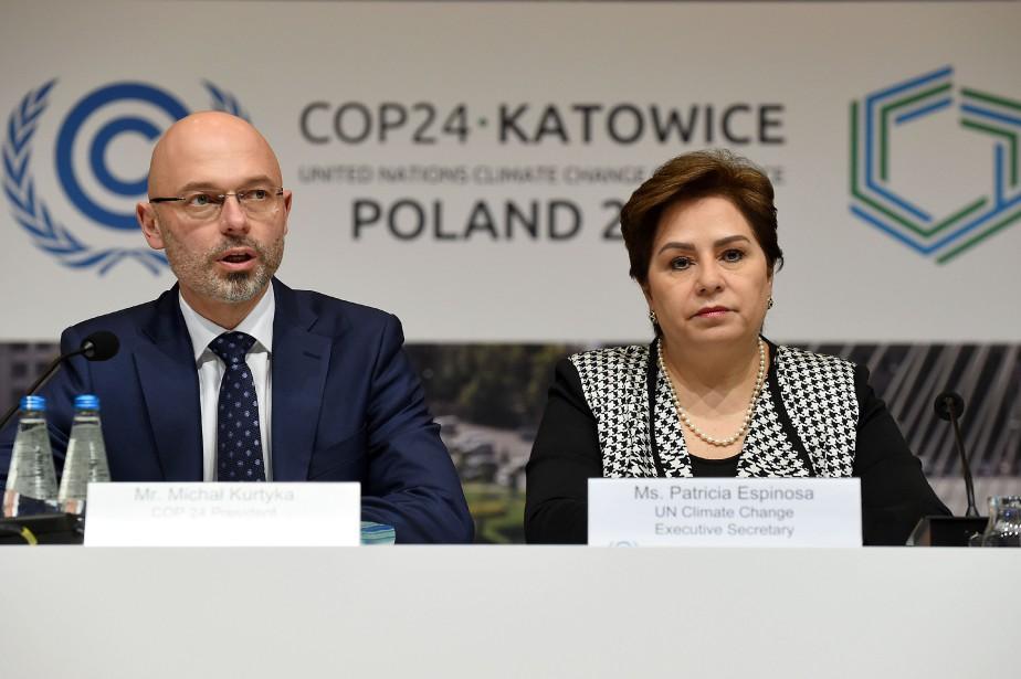 Patricia Espinosa, Secrétaire exécutive des Nations Unies sur les changements climatiques lors de la COP24 en Pologne en décembre 2018.
