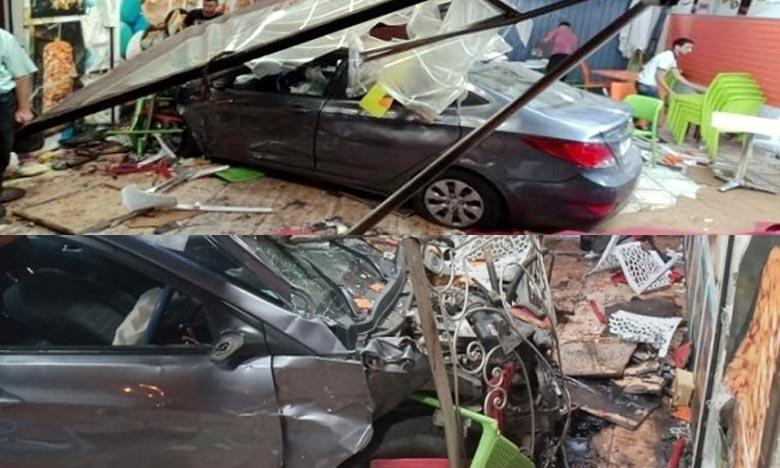 Blessant neuf personnes, un conducteur ivre a foncé dans un snack situé sur le Boulevard Moulay Rachid à Marrakech. Ph : DR