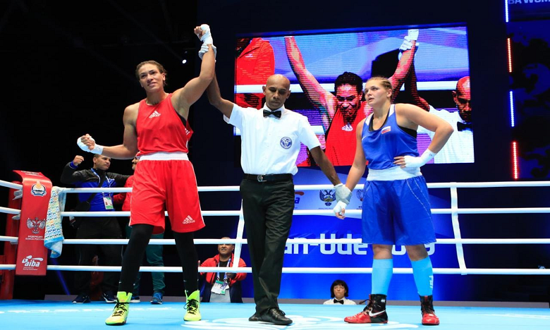 Mondiaux de boxe en Russie:  Khadija Mardi bat la vice-championne du monde