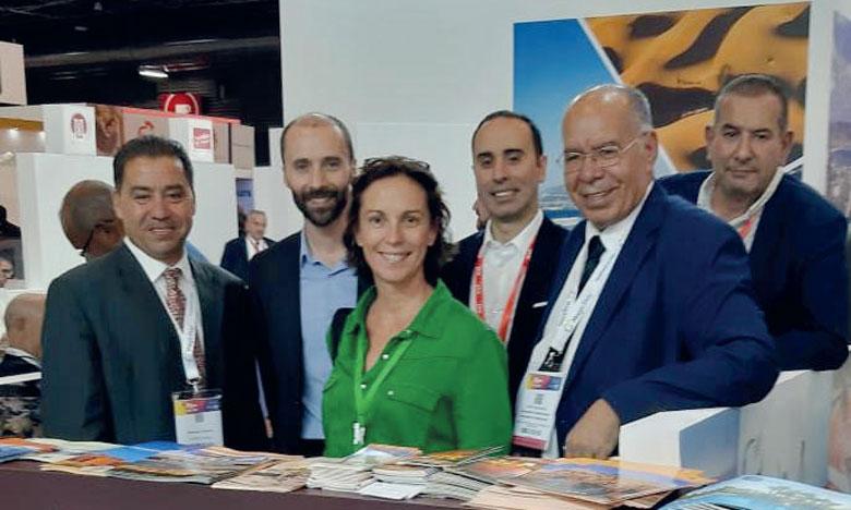 Les représentants du Conseil Provincial du Tourisme de Ouarzazate lors de la 41e édition du Salon Top Resa à Paris.