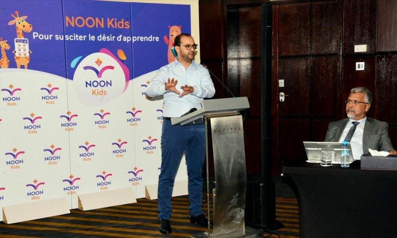 «Noon Kids» se veut une solution distancielle qui permet à l'élève de bénéficier d'une flexibilité du temps d'apprentissage et d'une pédagogie par le jeu, a expliqué Mohamed Taimouri, directeur général de AHT Software. Ph : DR
