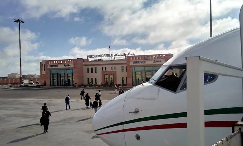 L'aéroport de Dakhla s'est adjugé 1,03% du volume de trafic enregistré au cours de la période janvier-août au niveau des différents aéroports du Royaume. Ph : DR