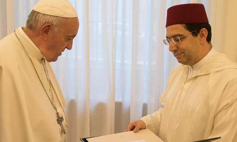 Message de S.M. le Roi, Amir Al Mouminine, au Pape François