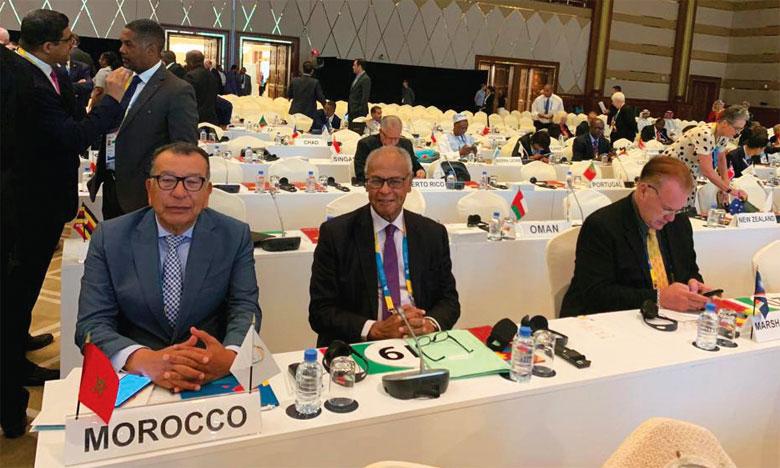 Le Maroc représenté par  Kamal Lahlou et Abdellatif Idmahama