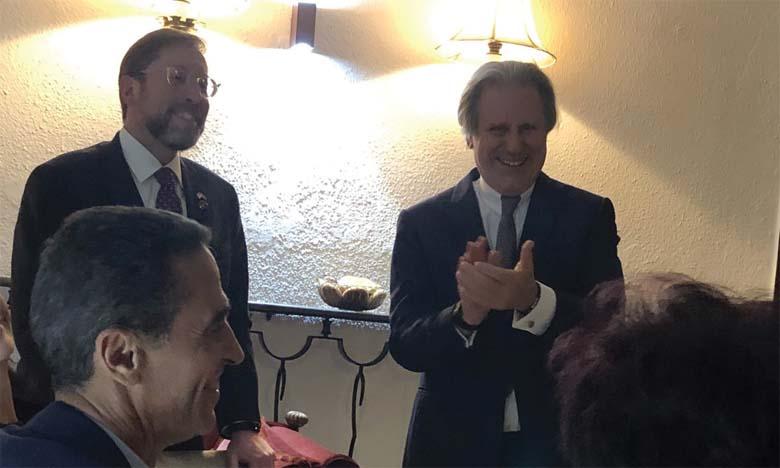 Pr Azzedine Kettani et Mme Naïma Smires offrent une réception en l'honneur du nouveau chargé d'affaires de l'ambassade des États-Unis