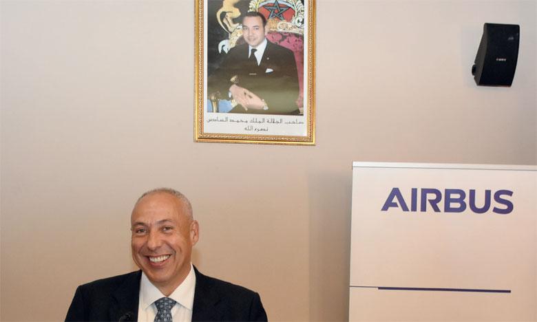 «Nous sommes fiers de participer au développement industriel du Royaume», a déclaré le président d'Airbus pour l'Afrique et le Moyen-Orient, Mikail Houari. Ph. Seddik