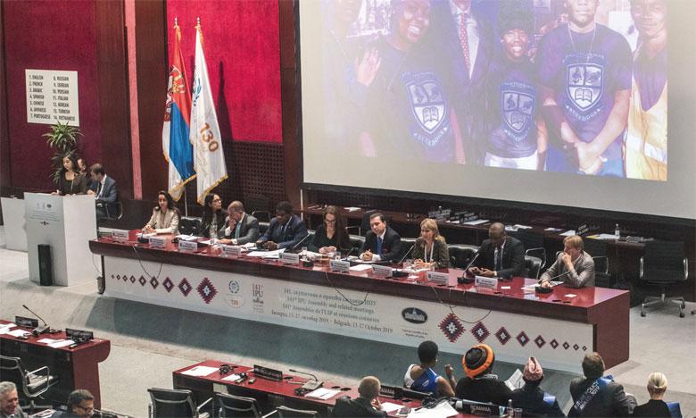 L'UIP salue la contribution du Maroc  au règlement des questions internationales  et régionales sensibles