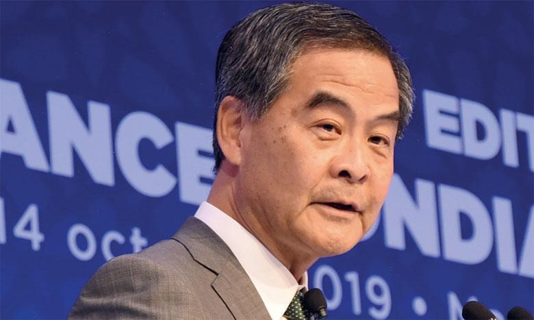 Leung Chun-Ying : «Notre croissance oscille autour de 6%, ce qui est honorable». Ph. Saouri