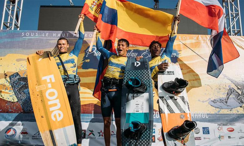 Un Colombien et une Brésilienne en haut  du podium de l'épreuve de freestyle