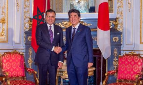 Son Altesse Royale le Prince Moulay Rachid s'entretient à Tokyo avec le Premier ministre japonais