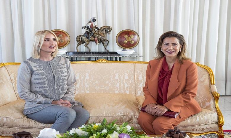 Ivanka Trump accueillie par Son Altesse Royale la Princesse Lalla Meryem