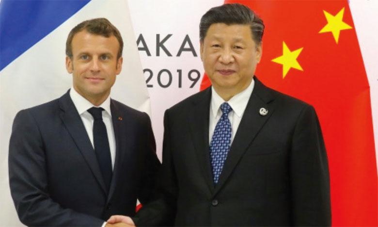 «La porte de la Chine s'ouvrira toujours plus grande», a assuré le Président chinois Xi Jinping à Emmanuel Macron. Ph. AFP