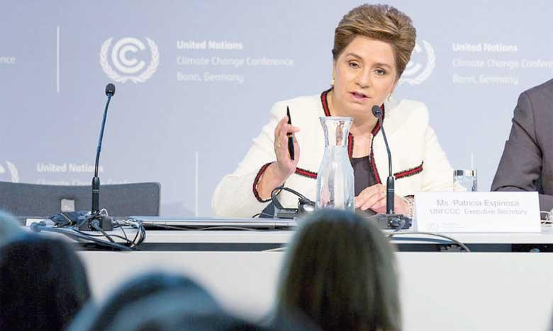 Patricia Espinosa, Secrétaire exécutive de la Convention-Cadre des Nations Unies sur le Changement climatiques à l'ouverture de la COP24 en décembre 2018. Samir Benmalek