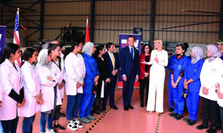 Mme Ivanka Trump visite l'Institut spécialisé dans les métiers de l'aéronautique et de la logistique aéroportuaire