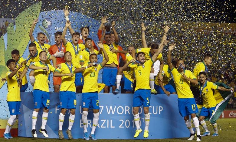 Lazaro a donné l'avantage au Brésil au bout des arrêts de jeu en reprenant au deuxième poteau un centre de Yan Couto devant les près de 14.000 spectateurs en délire. Ph :  AFP
