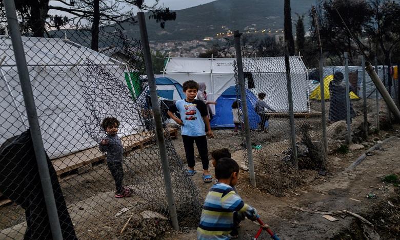 Les camps de Lesbos, Samos et Chios abritent plus de 27.000 migrants pour une capacité totale de 4.500. Ph. AFP