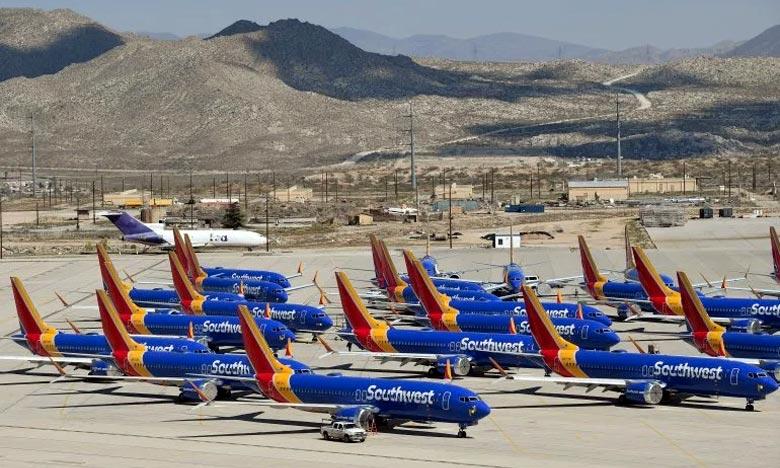 Tous les 737 MAX ont été cloués au sol après l'accident d'un appareil de ce type d'Ethiopian Airlines le 10 mars, quelques minutes après son décollage d'Addis Abeba, qui a tué les 157 occupants. Ph : AFP