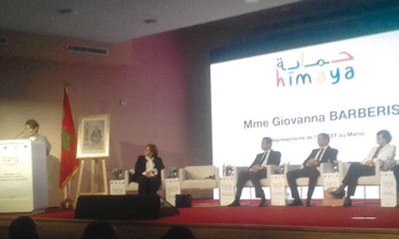 La représentante de l'Unicef à Rabat, Giovanna Barberis, lors de son intervention.