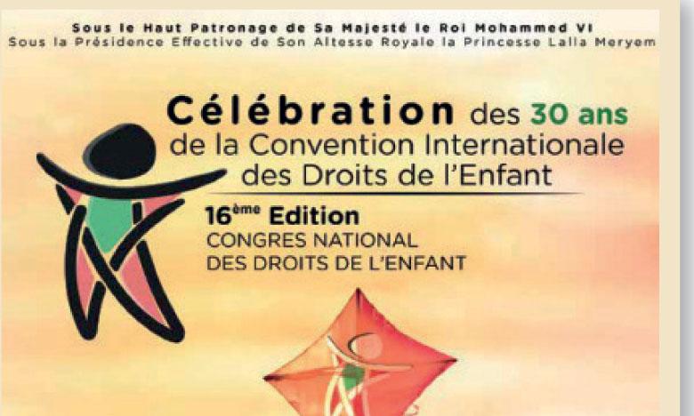 Le Congrès national des droits de l'enfant ouvre ses travaux aujourd'hui à Marrakech