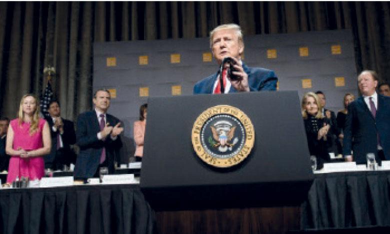 M. Trump n'est que le troisième Président de l'Histoire américaine à être visé par une procédure de destitution. Aucun n'a jamais été démis de ses fonctions.                        Ph. AFP